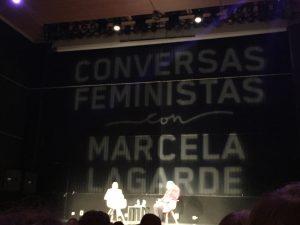 Marcela Lagarde en Santiago